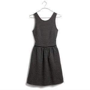Madewell Stripe Sleeveless Pierside Zip Back Dress